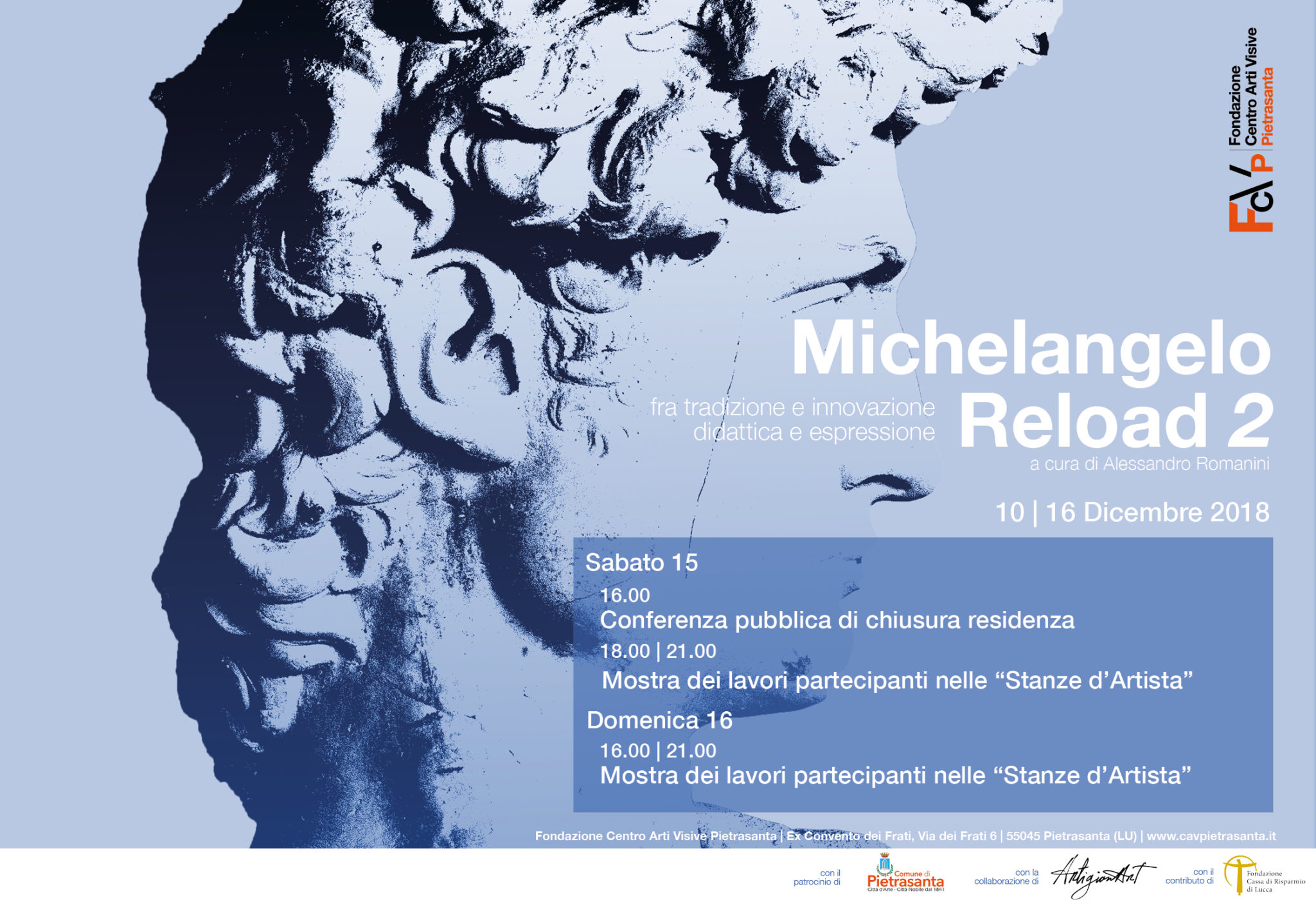 MICHELANGELO RELOAD – Residenza artistica II° sezione (10-16 DICEMBRE)