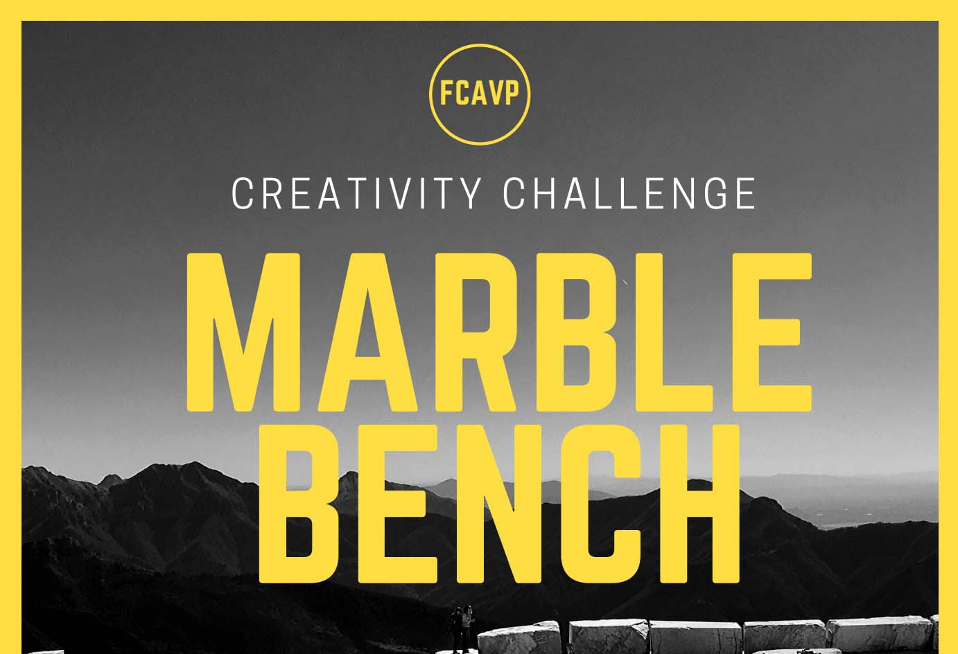 MARBLE BENCH. CREATIVITY CHALLENGE.