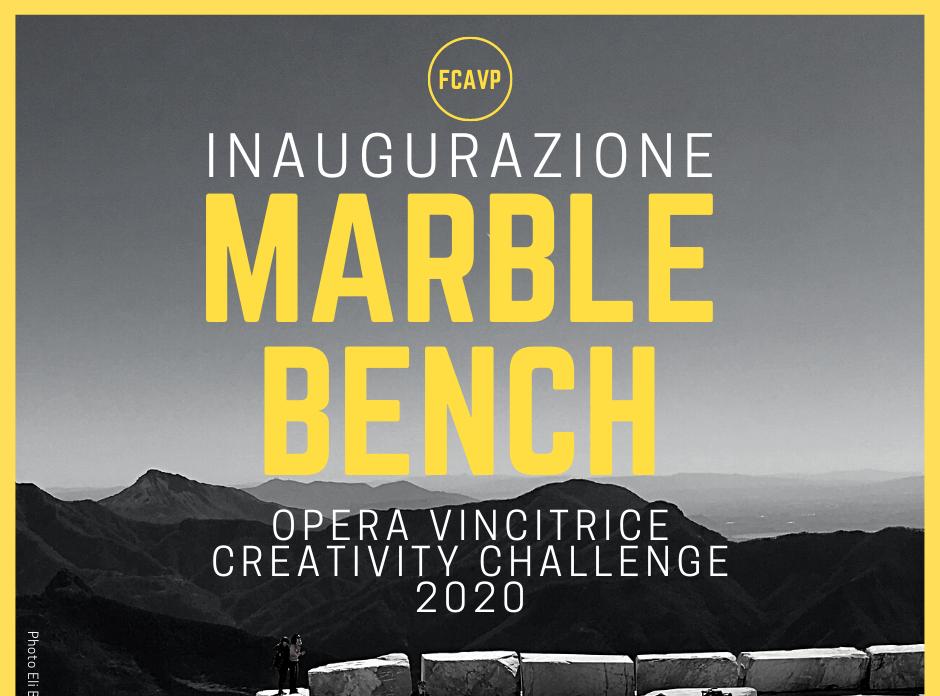 INAUGURAZIONE OPERA VINCITRICE MARBLE BENCH – CREATIVITY CHALLENGE 2020